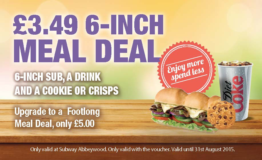 £3.49 6-Inch Meal Deal