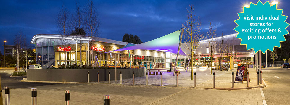 Abbey Wood Shopping Park at night